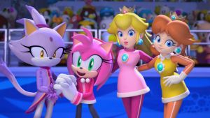 Mario and Sonic Olympic Games playable girls by AnimatedKingdom