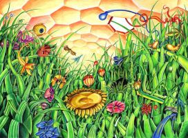 Vision of a bee by Birni4