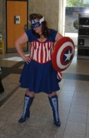 Ms. Captain America by fixinman