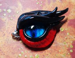 Glow in the Dark Rathalos Eye Keychain by RaPVVNzel