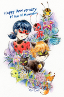 Happy 1 year anniversary to Miraculous Ladybug !! by Yuzumiso