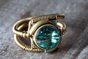 Steampunk Ring Erinite Crystal by CatherinetteRings