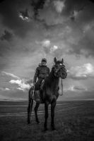 Kyrgyz Man with His Horse by yavuzozer
