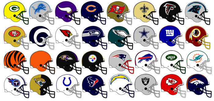 Nfl Team Helmets 2017  by Chenglor55