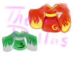 DarlingArmy 2014 contest Slytherin and Griffindore by Theia-Pallas