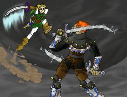 Ganondorf VS. Link by pettyartist