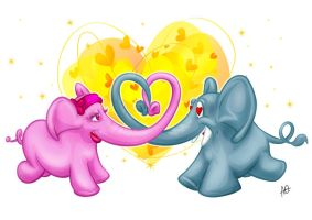 Elovephants by antonist