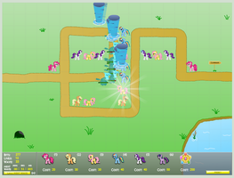 Canterlot Siege Walk Through Map 1 Win Gode Mode by KatKathasaHatHat