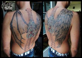 wings good and bad by CAMOSartTATTOO