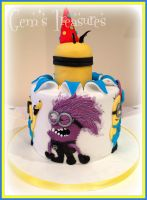 Despicable Me Cake, BANANA! by gertygetsgangster