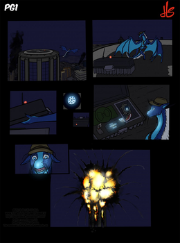 Curiosity killed the cat [comic p1] by Bluehasia