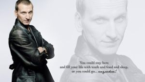 9th Doctor Wallpaper by BlackySmith