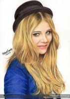 Chloe Moretz - Colour Pencils 2 by FabianaAzevedo