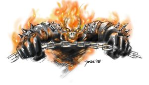ghost rider sketch by yosse