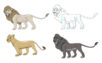 LION ADOPTABLES ROUND 2: OPEN by WindiciousDesigns