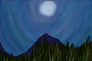 Night Mountainside by ShattenWolf