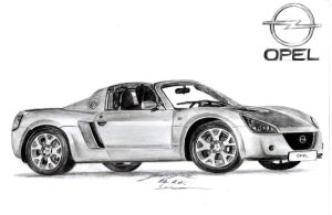 Opel Speedster drawing by toyonda