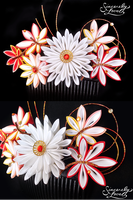 Commission: Bridal Momiji Kanzashi by SincerelyLove