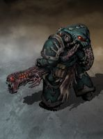 Chaos space Marine 5 in color by Jutami