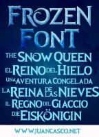 Frozen Movie Title-Frozen Roman Typeface by DarkoJuan