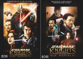 Then and now: KOTOR Poster by Entropist2009