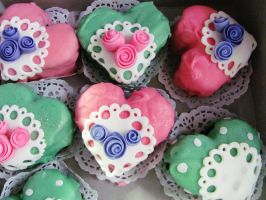 Chocolate Victorian hearts by I-am-Ginger-Pops