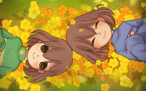 Frisk y Chara by MiniCailan