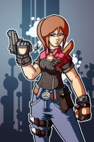 :claire redfield:standing strong:my alt: by PoisonRemedy