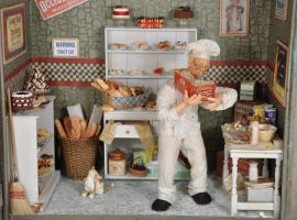 Baker in his Kitchen 1:12 Mini by MiniatureMadness