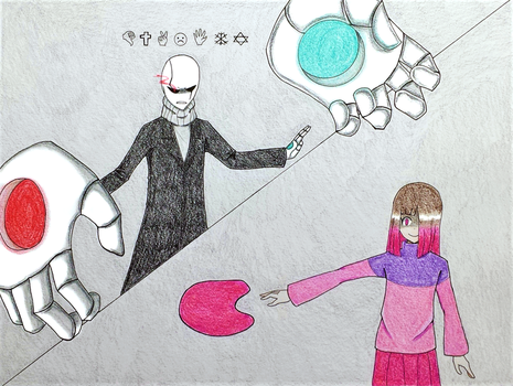 Glitchtale: Gaster vs Bete Noire by iDetectiv