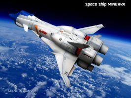 Space ship MINERVA by mixnuts