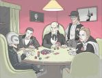Phantoms Playing Poker by Raphael2054