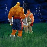 Sagat Vs Ryu by Stitchking83