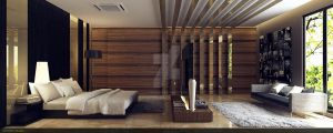 modern wood jerry bedroom 2 by vermillion3D