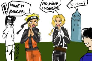 Edward vs Naruto Parody by Kirika-chan