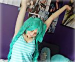 Hatsune Miku~ Stretch by Whimsical-Angel