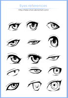 Eyes references vol.1 by Tabe-chan