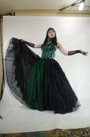 STOCK - Gothic vampire in green by Apsara-Art