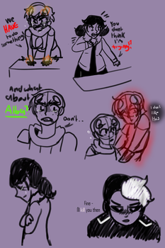 fanfic sketches [Weirdocraft] by Soulfire402