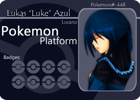 PokePlatform Battle Card:Luke by AzureBlaxis