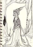 Daily sketch no.29 -The Witch of Nehrgonar- by IoannisCleary