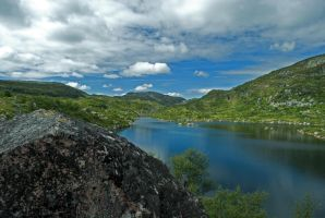 Norwegian landscape by Safraba