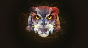 Low Poly Owl Wallpaper by fr0zenyoghurt