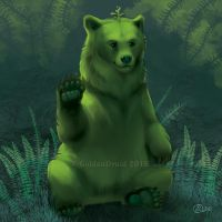 Fern Bear - SpeedPaint by GoldenDruid