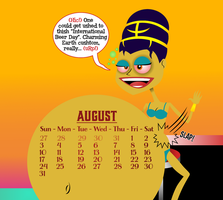 The Empress Genevieve 2014 Calendar: August by Morbiose