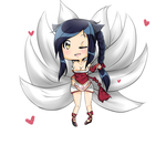 League of Legends Chibi Ahri by CuteAiko0