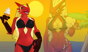 Pokemon Snap XXX - Blaziken for XPS by Disembowell