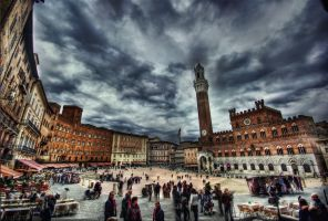 Piazza Del Campo HDR by ISIK5