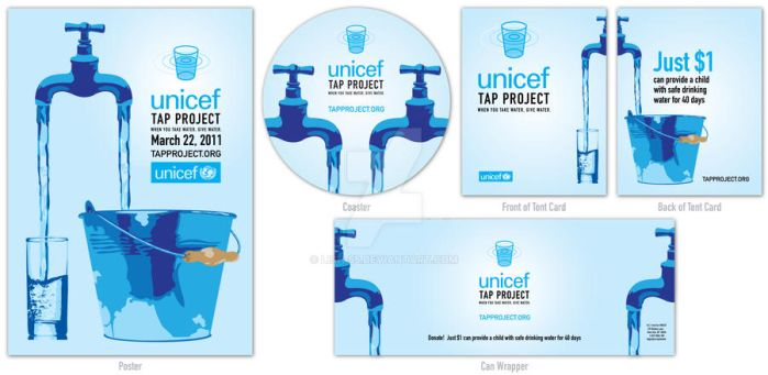 UNICEF Tap Project Campaign Design by Lish-55