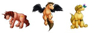 Pony Designs - The Trio by evion